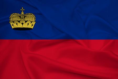 lichtenstein: Waving Lichtenstein Flag