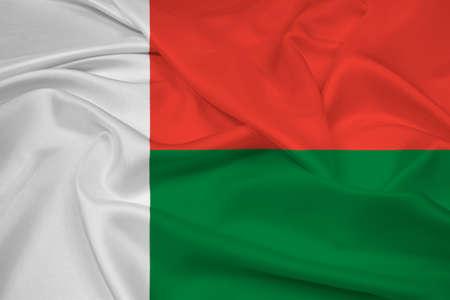 madagascar: Waving Madagascar Flag