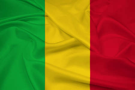 mali: Waving Mali Flag