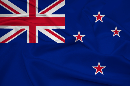 new zealand: Waving New Zealand Flag Stock Photo