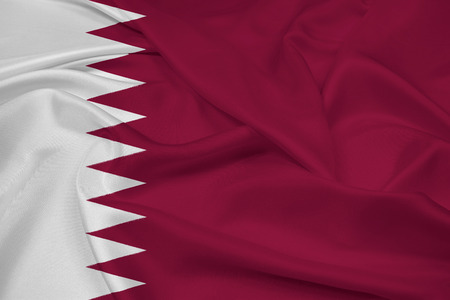 Waving Qatar Flag photo