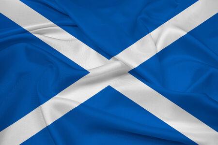 scot: Waving Scotland Flag