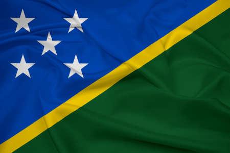 solomon: Waving Solomon Islands Flag