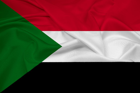 sudan: Waving Sudan Flag Stock Photo