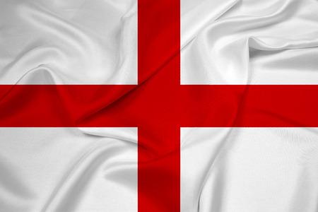 drapeau angleterre: Drapeau de ondulation de l'Angleterre Banque d'images