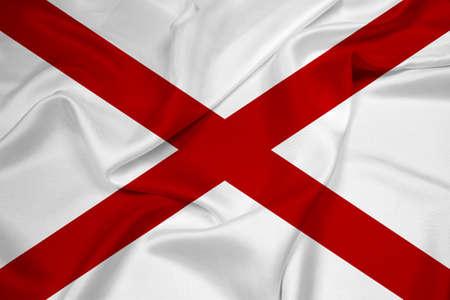 alabama state: Waving Alabama State Flag Stock Photo