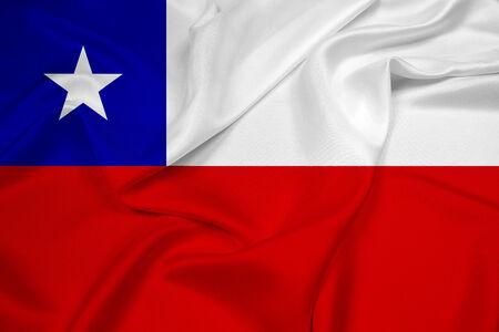 bandera chile: Ondeando la bandera de Chile