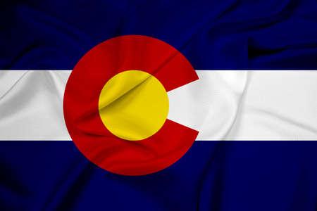 colorado flag: Waving Colorado Flag Stock Photo