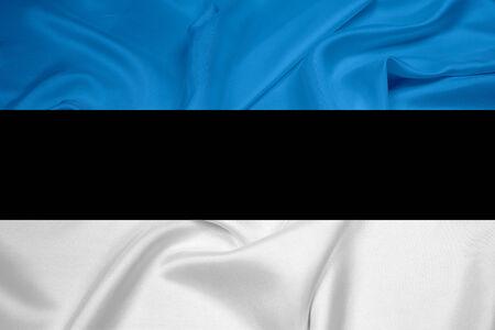 cotton velvet: Waving Estonia Flag
