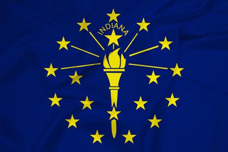 indiana: Waving Indiana State Flag