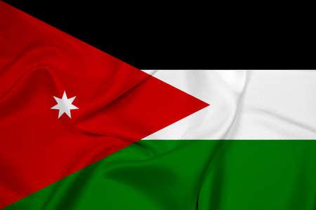 jordan: Waving Jordan Flag Stock Photo