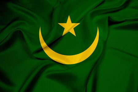 mauritania: Waving Mauritania Flag