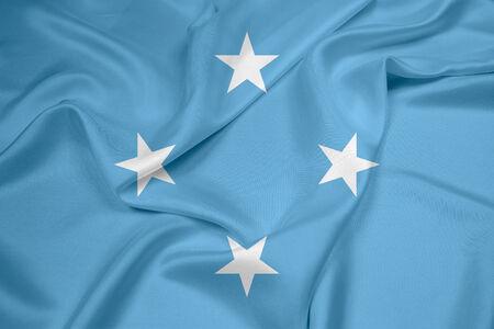 micronesia: Waving Micronesia Flag