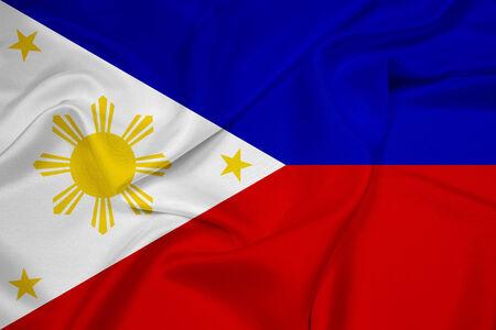 philippines flag: Waving Philippines Flag Stock Photo