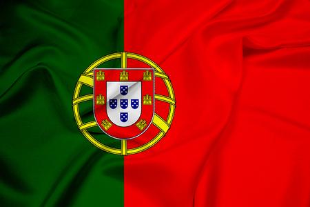 drapeau portugal: Drapeau de ondulation du Portugal