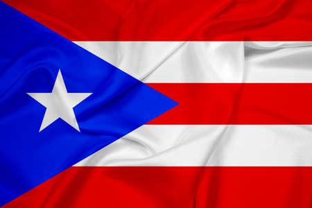 puerto rico: Waving Puerto Rico Flag