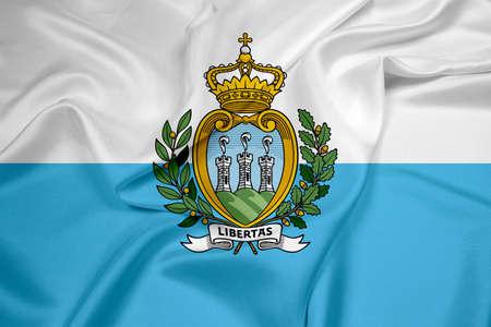 marino: Waving San Marino Flag