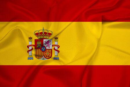 spain: Waving Spain Flag