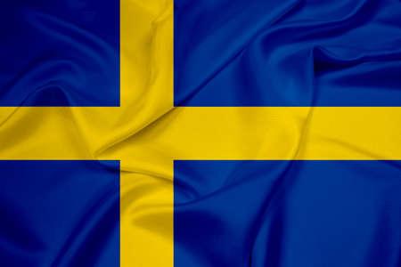 Waving Sweden Flag Stock Photo
