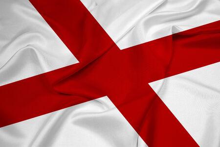 Waving Alabama State Flag photo