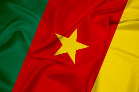 cameroon: Waving Cameroon Flag Stock Photo