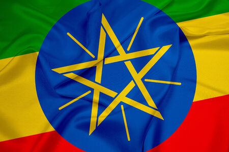 ethiopia abstract: Waving Ethiopia Flag