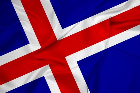 flag of iceland: Ondeando la bandera de Islandia