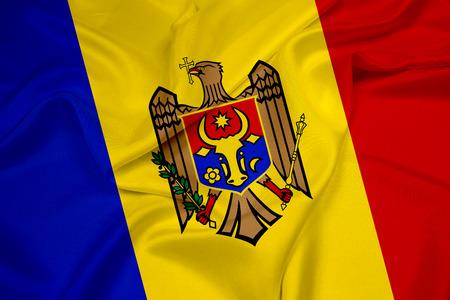 moldova: Waving Moldova Flag Stock Photo