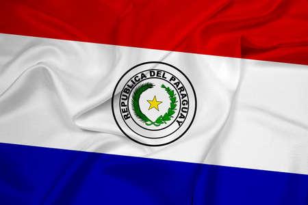 Paraguay flag: Waving Flag Paraguay