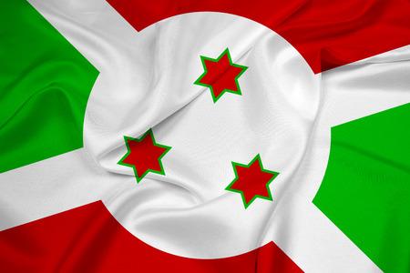 burundi: Waving Burundi Flag