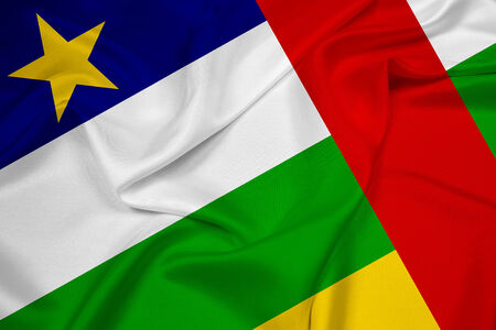central african republic: Waving Central African Republic Flag