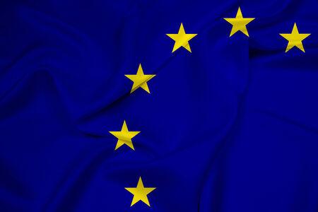 Waving European Union Flag photo