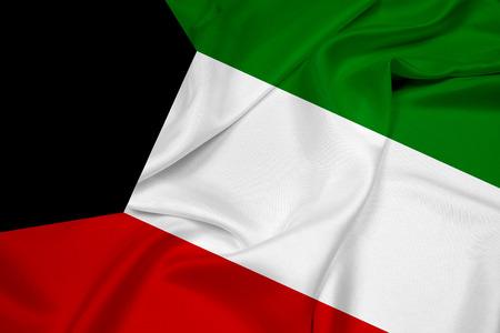 Waving Kuwait Flag Stock Photo