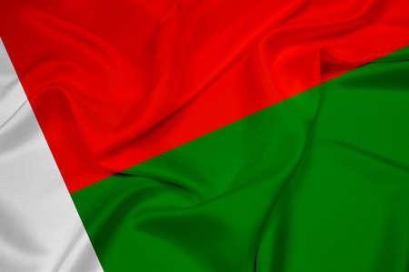 Waving Madagascar Flag photo