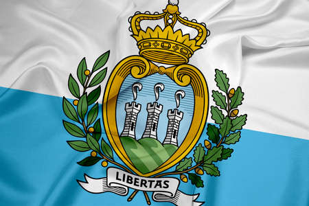 Waving San Marino Flag photo