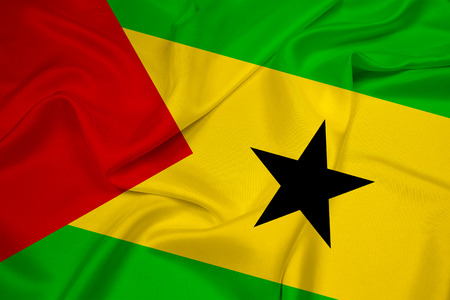 tomo: Agitando Sao Tome e Principe bandiera