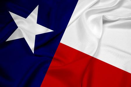 Waving Texas State Flag