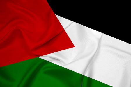 Waving Palestine Flag