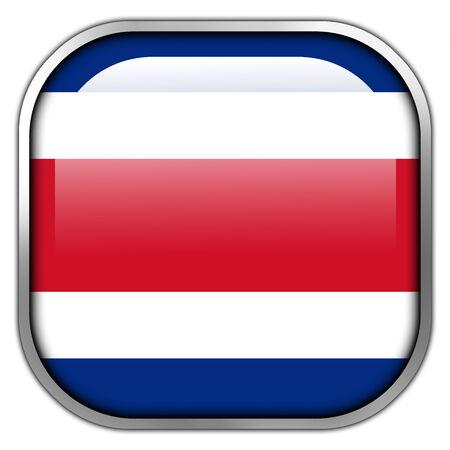 costa rica flag: Costa Rica Flag square glossy button