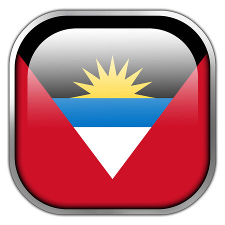 barbuda: Antigua and Barbuda Flag square glossy button