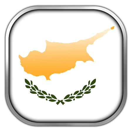 cyprus: Cyprus Flag square glossy button