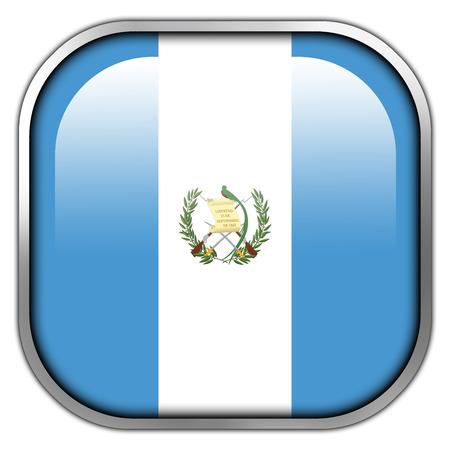 bandera de guatemala: Bot�n brillante del cuadrado de la bandera de Guatemala