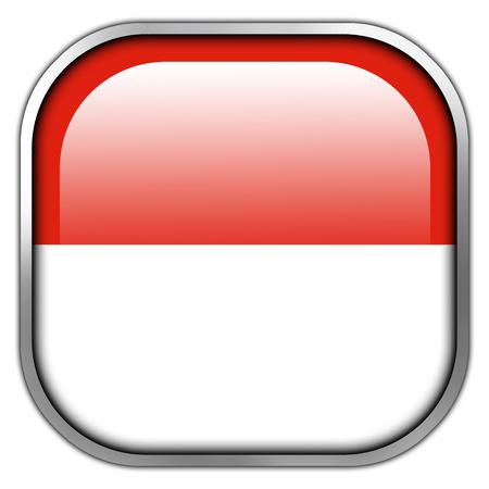 Monaco Flag square glossy button photo
