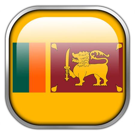 lanka: Sri Lanka Flag square glossy button