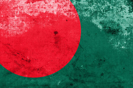 Bangladesh Flag with a vintage and old look