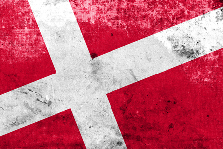danish flag: Denmark Flag with a vintage and old look
