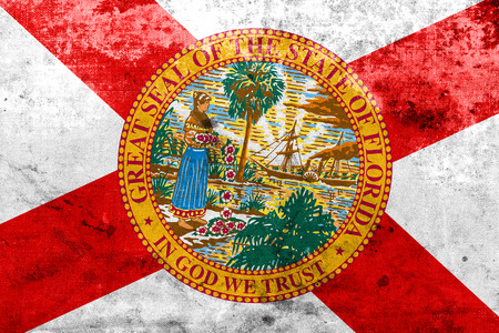 u.s. flag: Florida State Flag with a vintage and old look Stock Photo