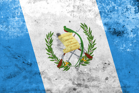 Guatemala Flag with a vintage and old look photo