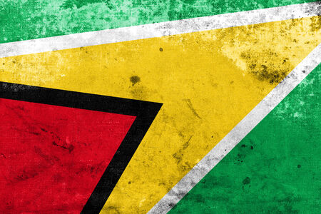guyanese: Guyana Flag with a vintage and old look Stock Photo