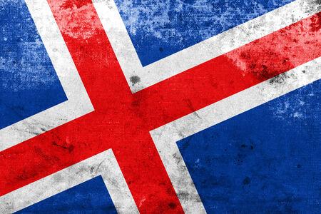 flag of iceland: Bandera de Islandia con un aspecto vintage y viejos Foto de archivo